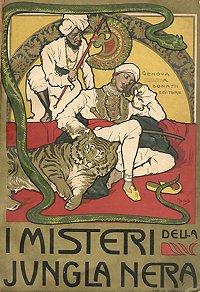 """Una delle prime edizioni de """"I Misteri della jungla nera"""" di E.Salgari"""